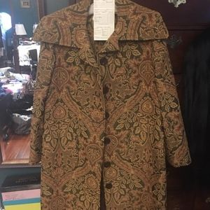 CUSTOM MADE 2019 COLLECTION RUPERTO COAT NWT